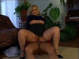 Horny old woman wants the young pianist\'s cock!