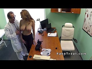 Busty patient in pantyhose banging