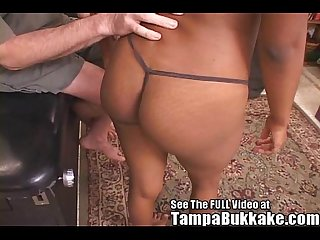 Ebony Kim S 5 white cock sex table gang bang