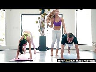 Brazzers brazzers exxtra yoga freaks episode seven scene starring ariana marie comma nicole aniston