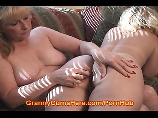 Nasty granny sucks dirty assholes