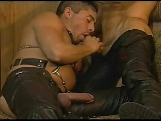 Leather gay for dressing