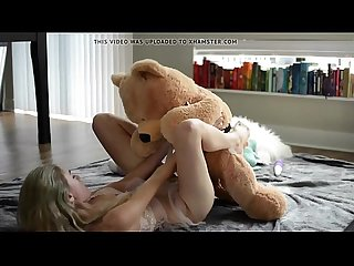Hot blonde babe rides a teddy bear - Watch Part 2 at SlutsLifeWebcams.com