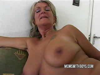 Mature lady boss anal fucking talent interview