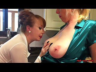 Pastries and pussy licking in the kitchen with Red XXX