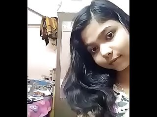 Odia teen girl undressing in front of the mirror