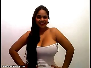 Colombian busty show on webcam