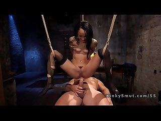 From sybian to hard anal bondage fuck