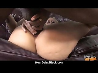 Hot milf mom make a blowjob and ride a big black cock interracial 29