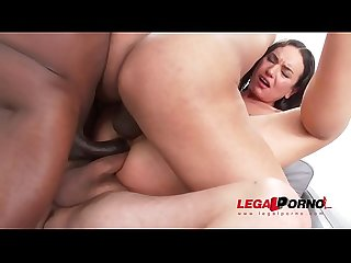 Nataly gold destroyed in monster cock fuck session with dap triple penetration