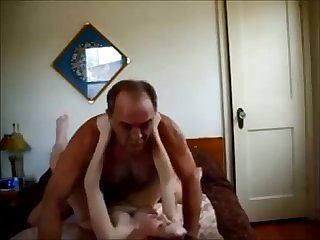 Old guy creampies hot college babe on homemade