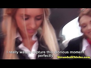 Stranded european schoolgirls suck dick pov