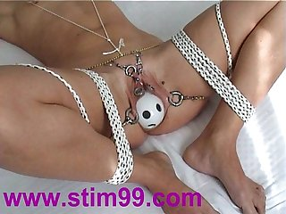 Tied Bondage Pussy Insertion Bottles Fucking Objects