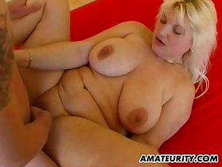 Fat amateur wife homemade suck and fuck with cumshot