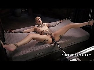 Tied up alt hottie fucking machine