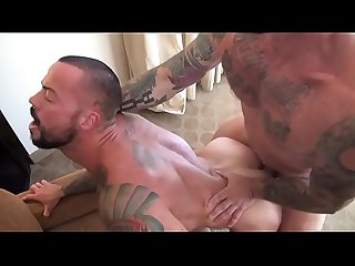 Sean Duran takes every inch of Rocco Steele massive cock at Bareback That Hole