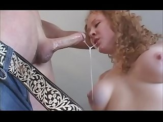 Redhead sucks and blows hardcore and deep