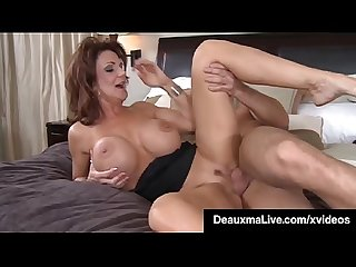Busty Cougar Mom Deauxma Sucks & Fucks Young Friend's Cock!