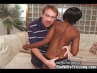 Ebony Slut Wife Gets Weave Fucked Off