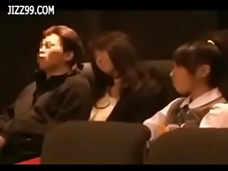Daughter watch mother fucked by geek in cinema