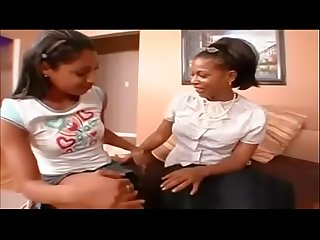 Spankbang ebony lesbian mom introduces herself to her son S girlfriend by fucking her 480p