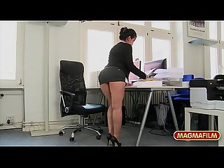 Rimming the petite Asian Milf Co-worker in the office