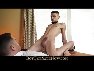 Young Tiny Submissive Twink Takes Big Master's Cock In Tight Ass - BOYFORSALENOW.COM