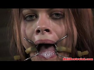 Spider gagged getting mouth fucked