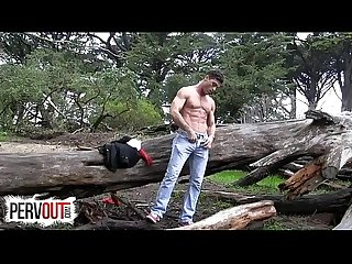 Lance hart cum tax in The woods gay outdoor