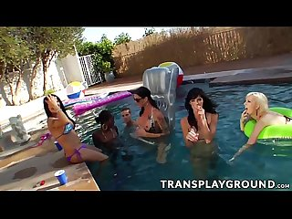 Hot orgy with tranny and hot ass babes in the poolherrytorptamekescene01 720p