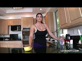 Big booty brunette busty maid alison tyler gets fucked
