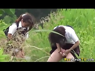 Naughty Japan teens pee