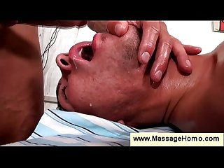 Gay masseur makes client swallow