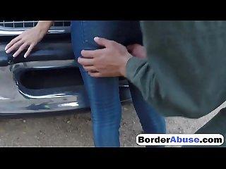 Agent of border patrol fucks slutty babe