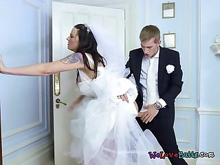 Sexy bride simony diamond gets fucked by hung groomsman