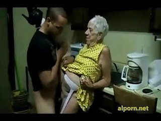 Old granny gets fucked by