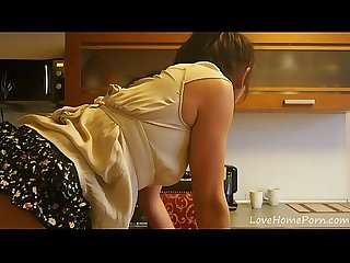 Teasing session in the kitchen with a hottie