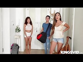 Frida sante and melody petite in threesome fiesta