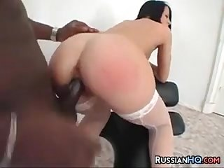 Russian chick and A big black dick