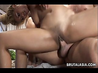 Asian sluts mika tan and lyla lei boned rough