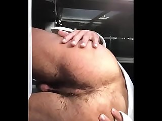 Firang guy showing his bare body dick and hairy ass