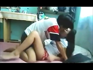 A lovely Asian couple fucking hard