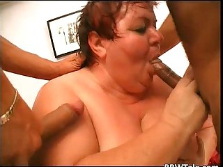 Old fat big breasted slut sucks