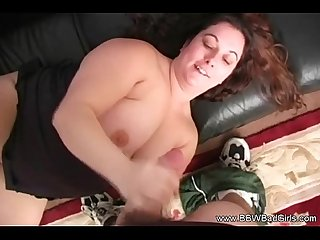BBW Handjob and Blowjob