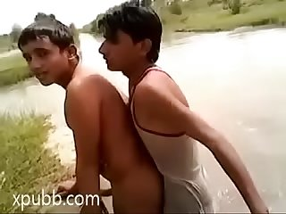 Indian gay teen fucking in lake outdoor