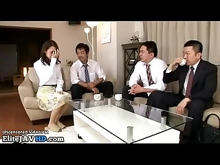Japanese beauty destroyed by husband friends more at elitejavhd com