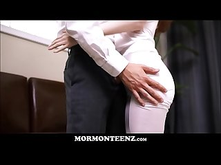 Cute Teen mormon Girl with big Natural tits julie snow fucked by athletic Young mormon guy
