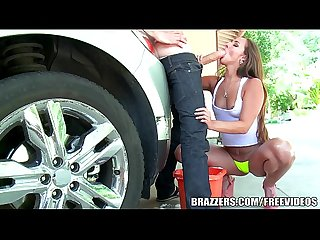 Brazzers - Hot anal carwash with Amirah Adara