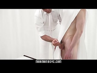 Straight boy submits to his priesthood leader