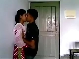 Lovers romance in college class room